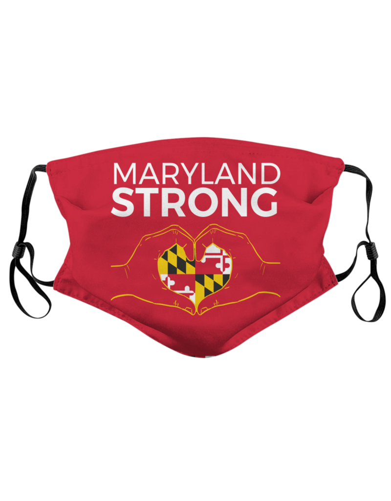 Route One Apparel Red Maryland Strong Face Mask