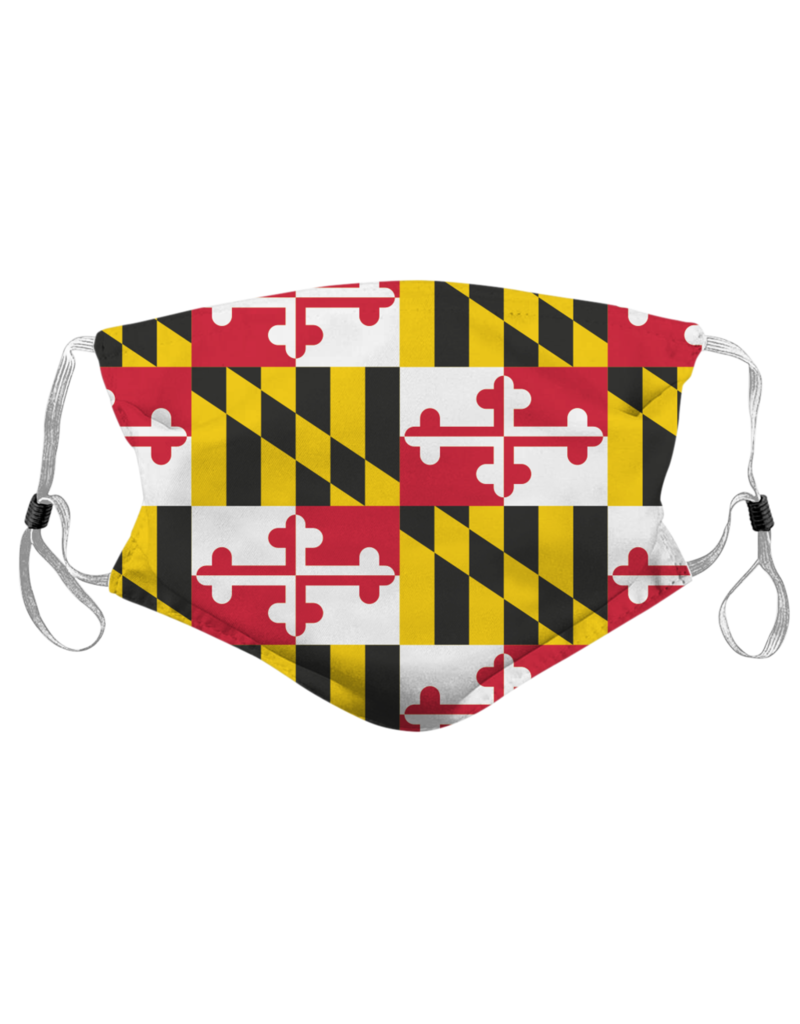 Route One Apparel Maryland Flag Face Mask