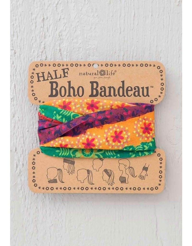 Natural Life Half Boho Bandeau - Red, Gold & Green