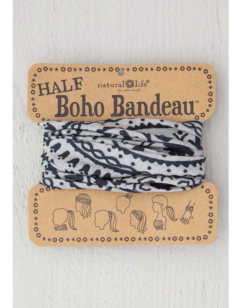 Natural Life Half Boho Bandeau - Cream & Black Mandala