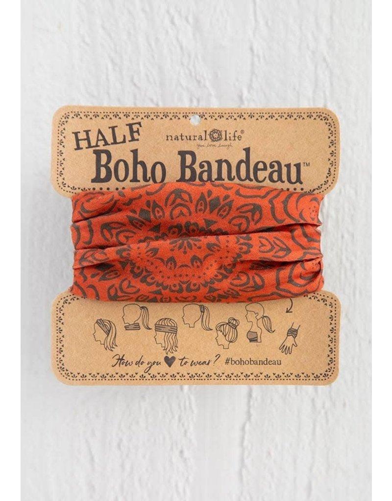 Natural Life Half Boho Bandeau - Rust Cocoa Mandala