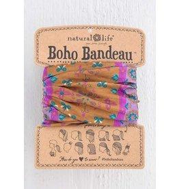 Natural Life Boho Bandeau - Gold Border Print
