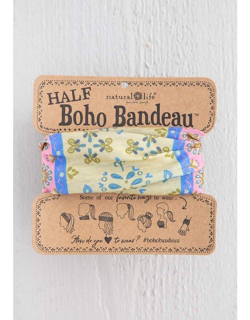 Natural Life Half Boho Bandeau - Cream Border Print