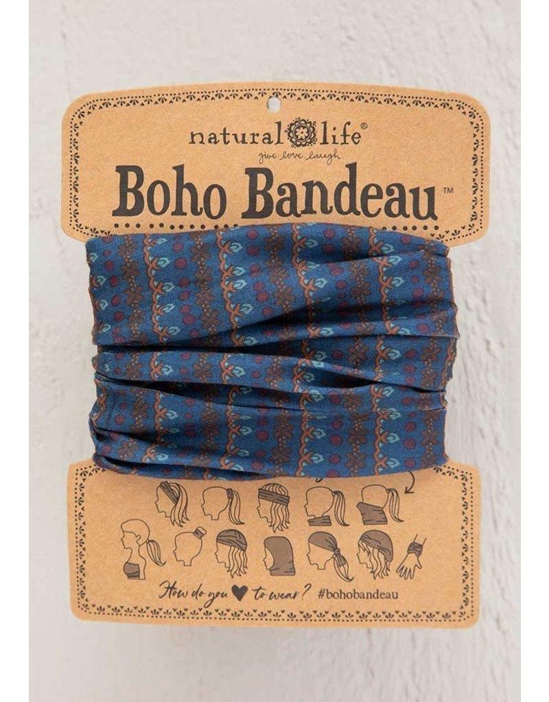 Natural Life Boho Bandeau - Navy Vines