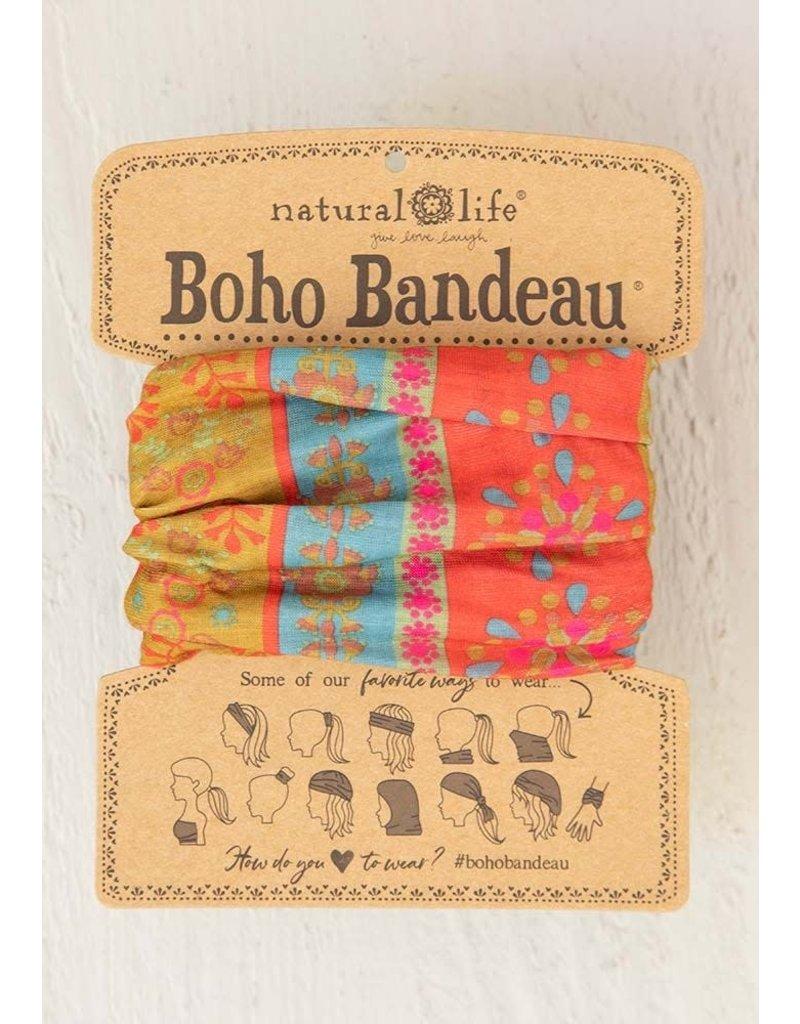 Natural Life Boho Bandeau - Red Floral Stripes