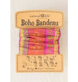 Natural Life Boho Bandeau - Fuschia Floral Stripes