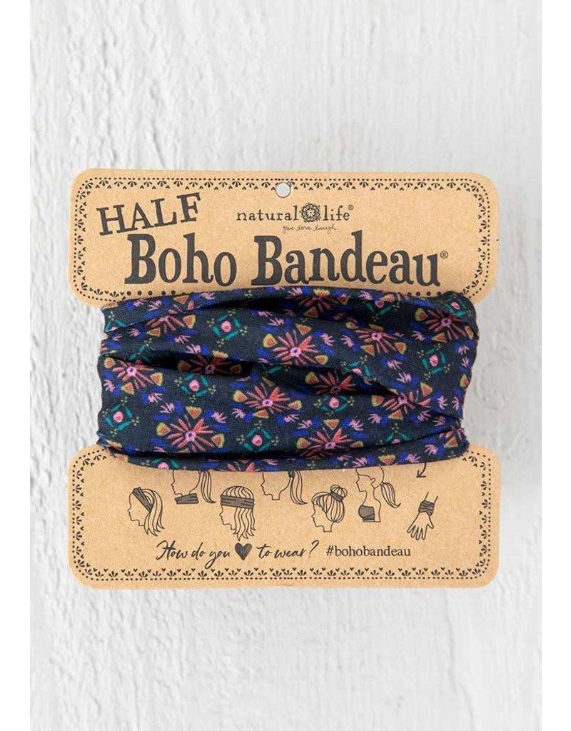 Natural Life Half Boho Bandeau - Black Multi Burst