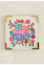 Natural Life You Are Amazing Corner Magnet