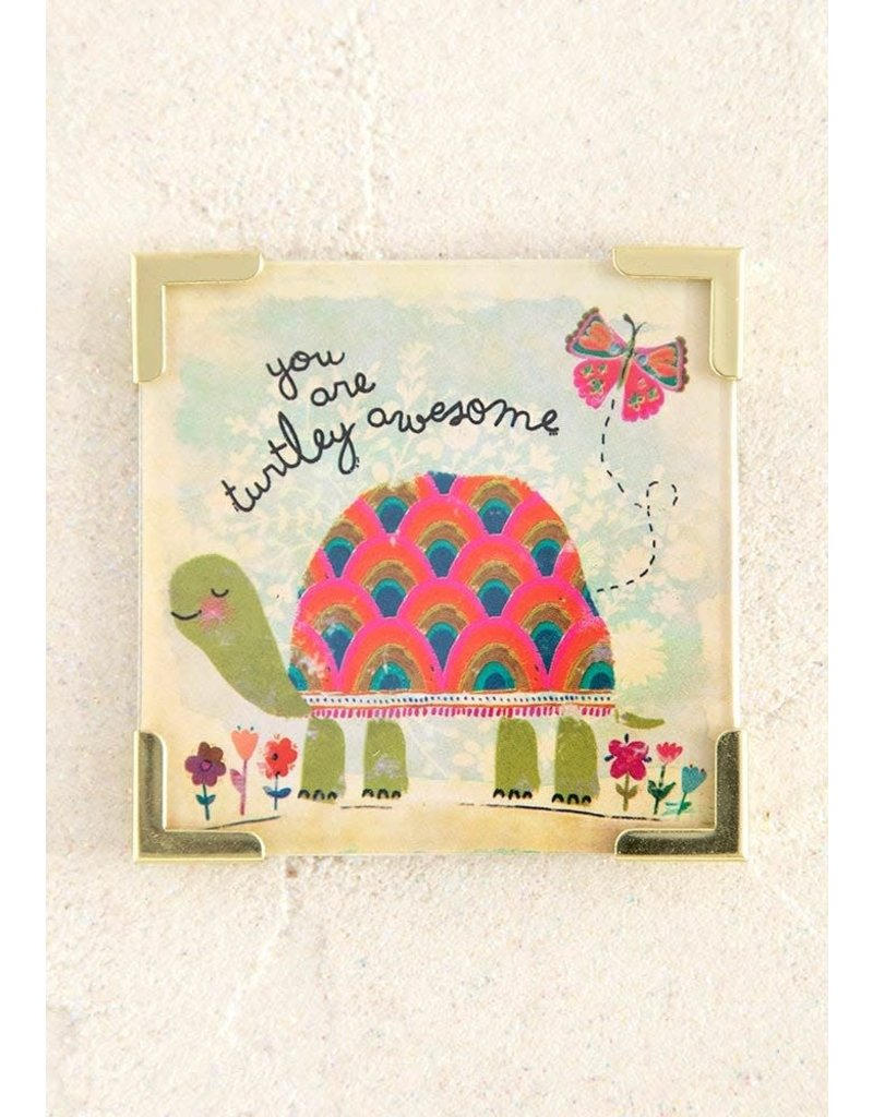 Natural Life Turtley Awesome Corner Magnet