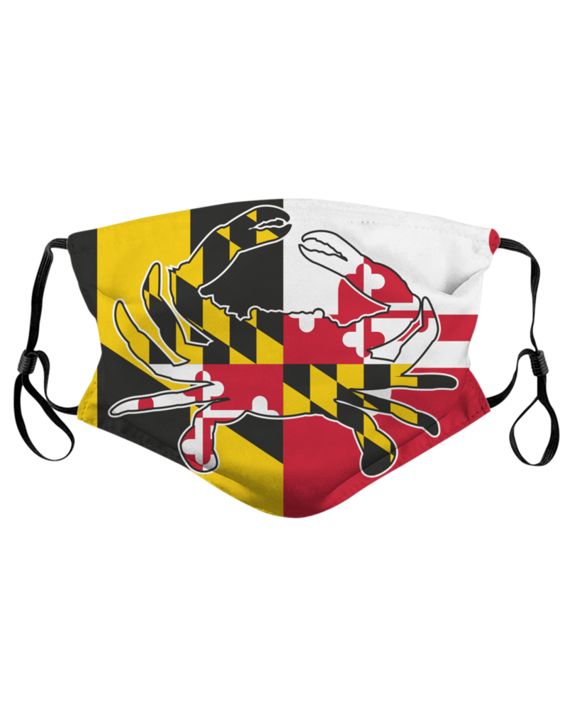 Route One Apparel Maryland Flag Crab Face Mask