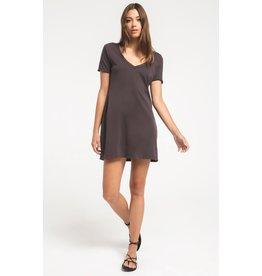 Z Supply Graphite Organic Cotton T-Shirt Dress
