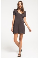 Z Supply Graphite Organic Cotton T-Shirt Dress