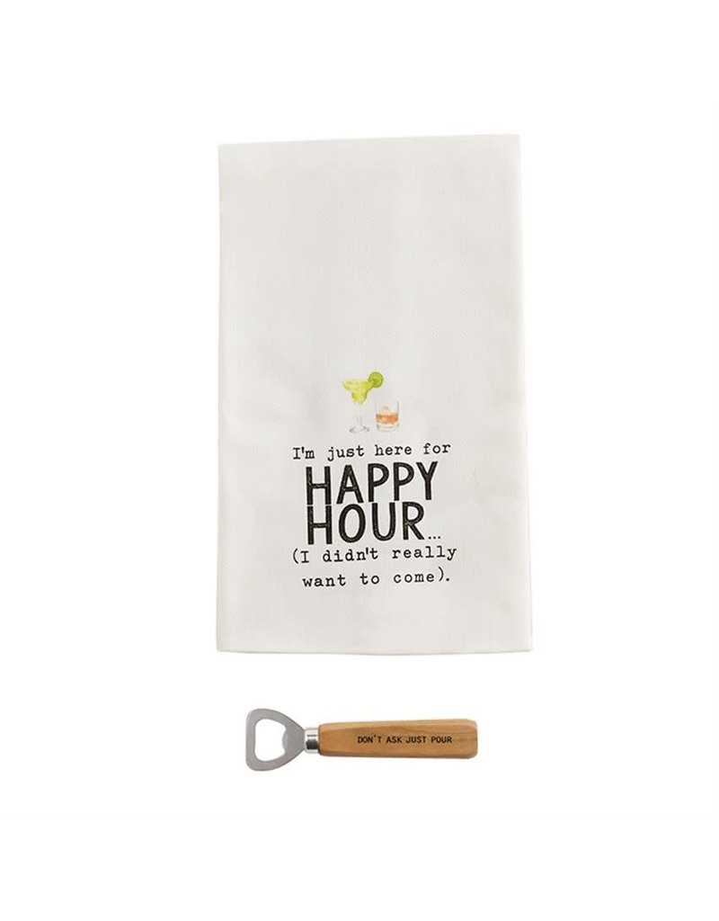 Mud Pie I'm Just Here For Happy Hour Towel Sets