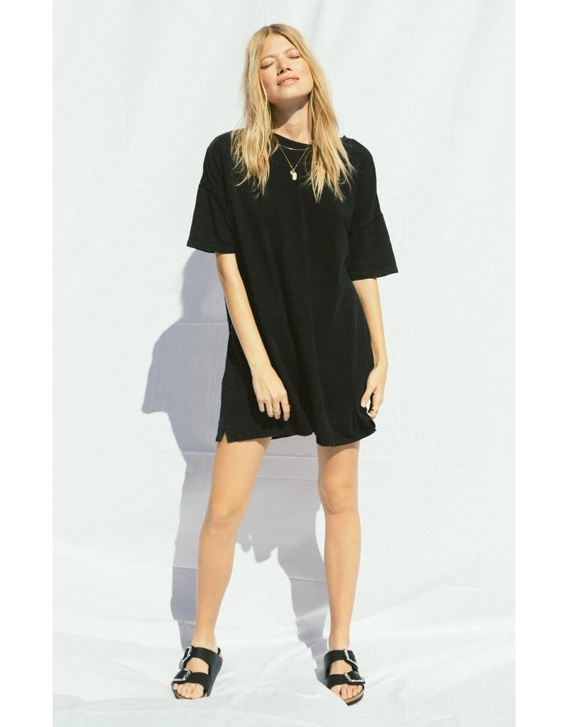 Z Supply Black Delta Slub Dress