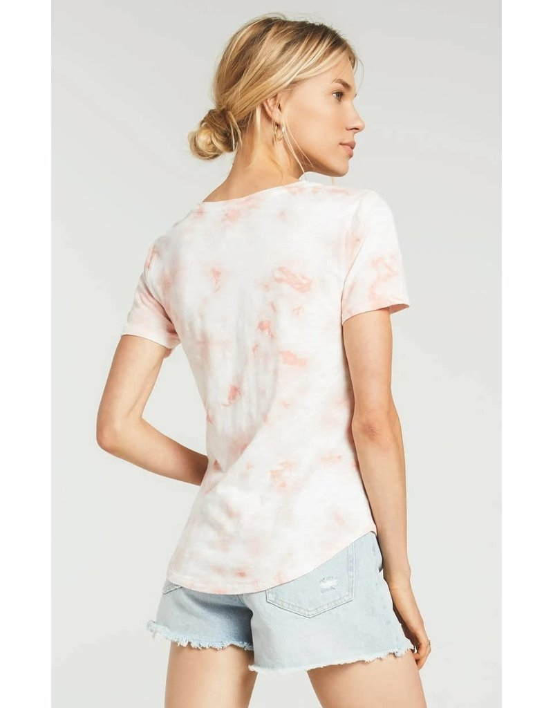 Z Supply Coral Ultimate Tie-Dye Tee