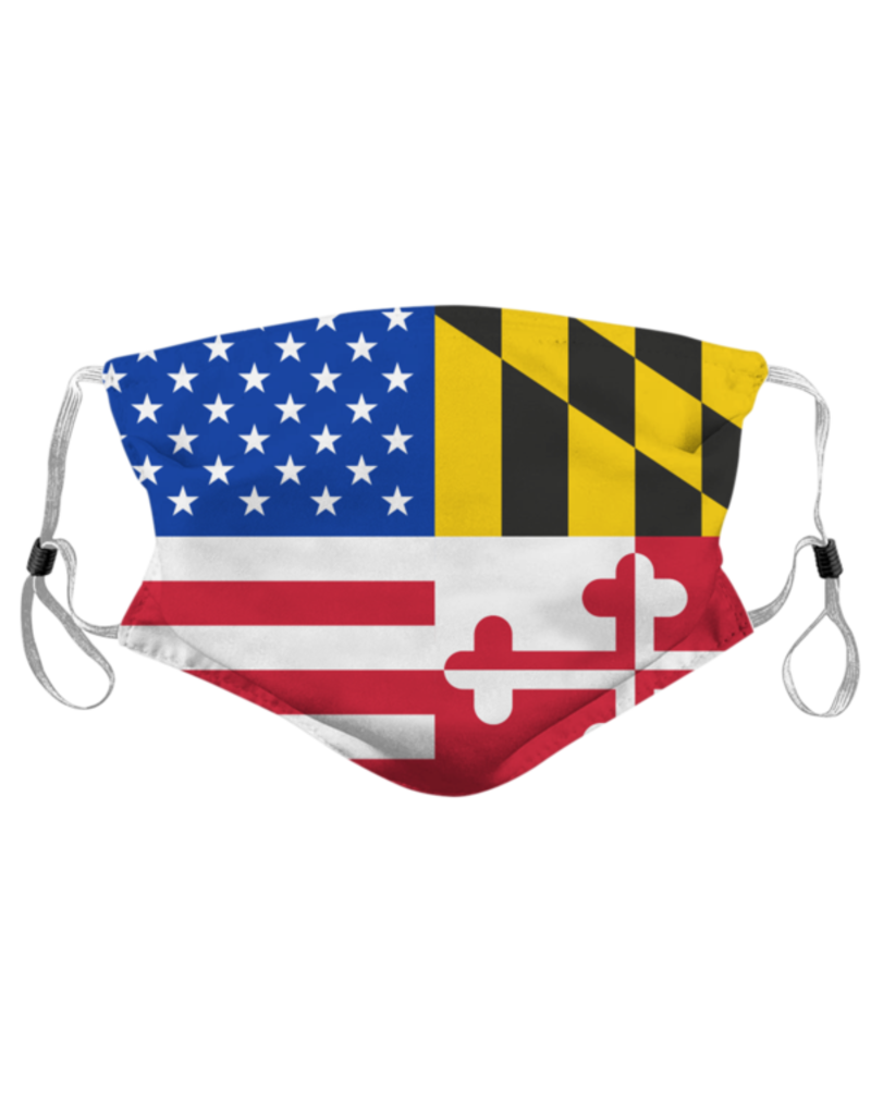 Route One Apparel Maryland & American Flag Face Mask