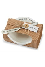 Mud Pie Circa Pedestal Dip Bowl Set - Dip Dip Horray