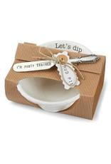 Mud Pie Circa Pedestal Dip Bowl Set - Let's Dip