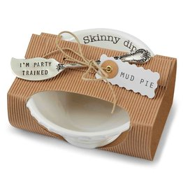Mud Pie Circa Pedestal Dip Bowl Set - Skinny Dip