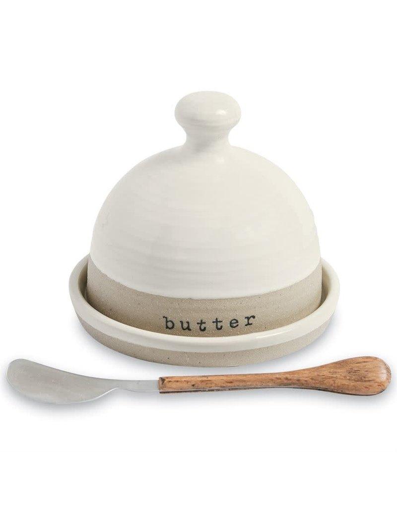 Mud Pie Stoneware Butter Dish Set