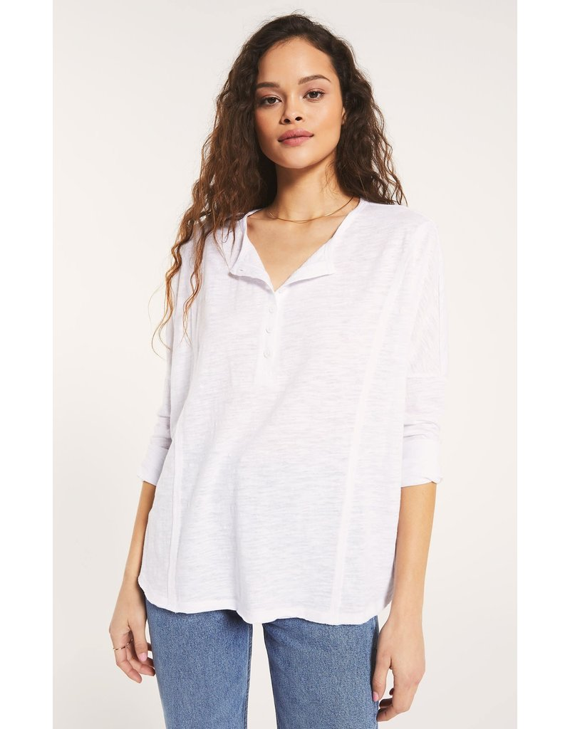 Z Supply Rebel Slub Henley - White