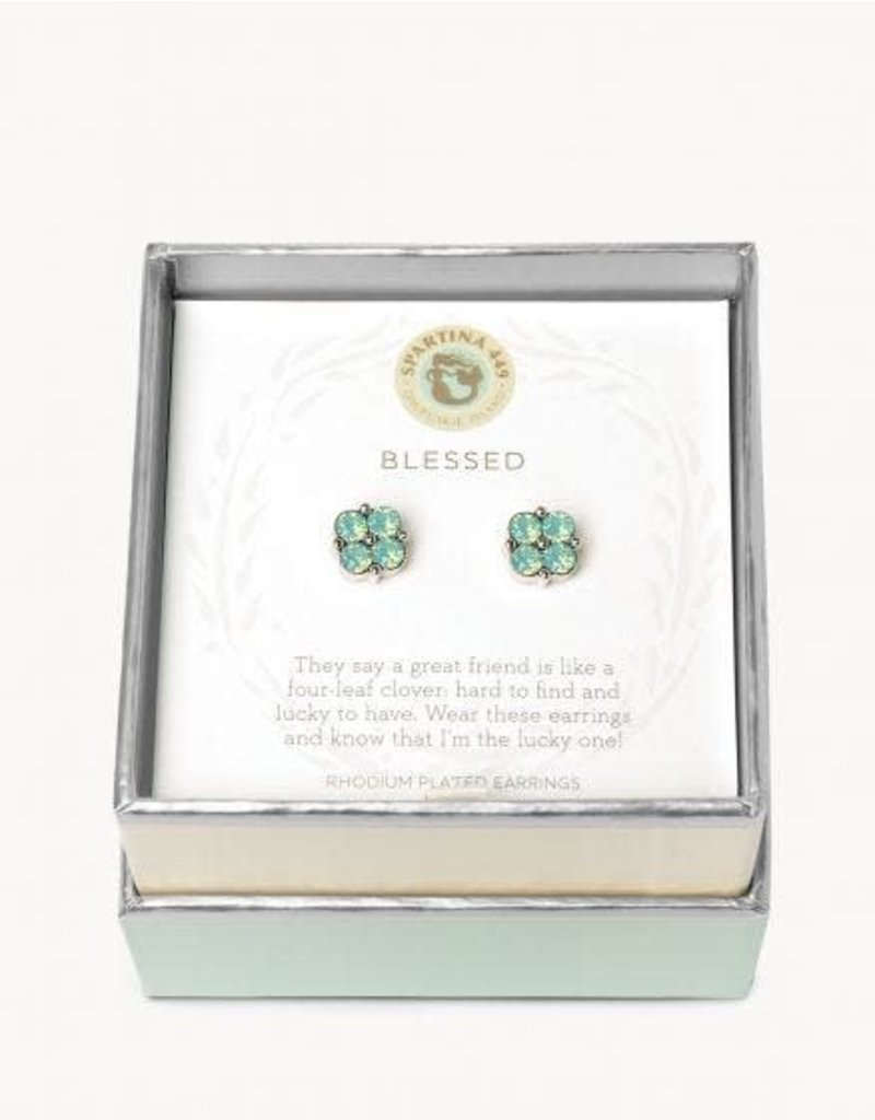 Spartina 449 Sea La Vie Blessed Stud Earrings - Sea Foam & Silver