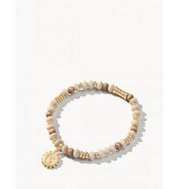 Spartina 449 Wood Bead Stretch Bracelet