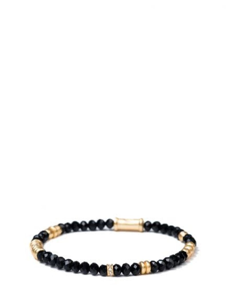 Spartina 449 Jet Black Stretch Bracelet