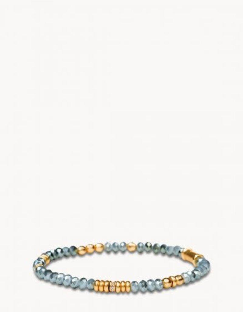 Spartina 449 Blue Gray 4mm Stretch Bracelet