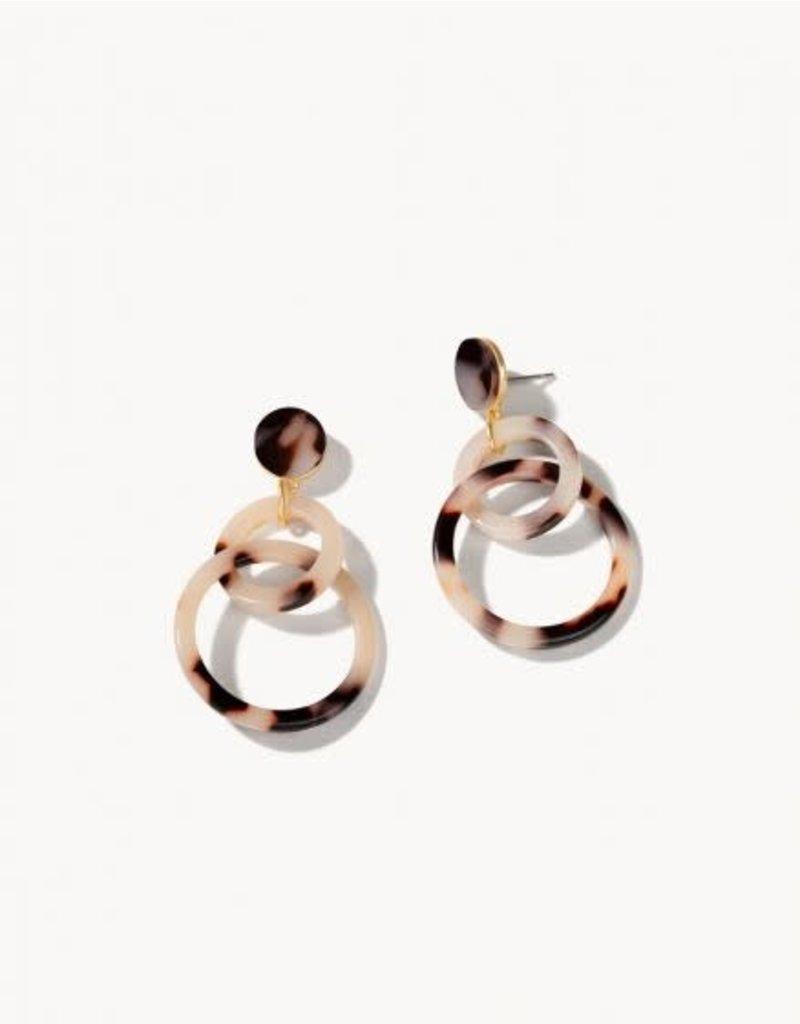 Spartina 449 Ring Toss Earrings- White Tortoise