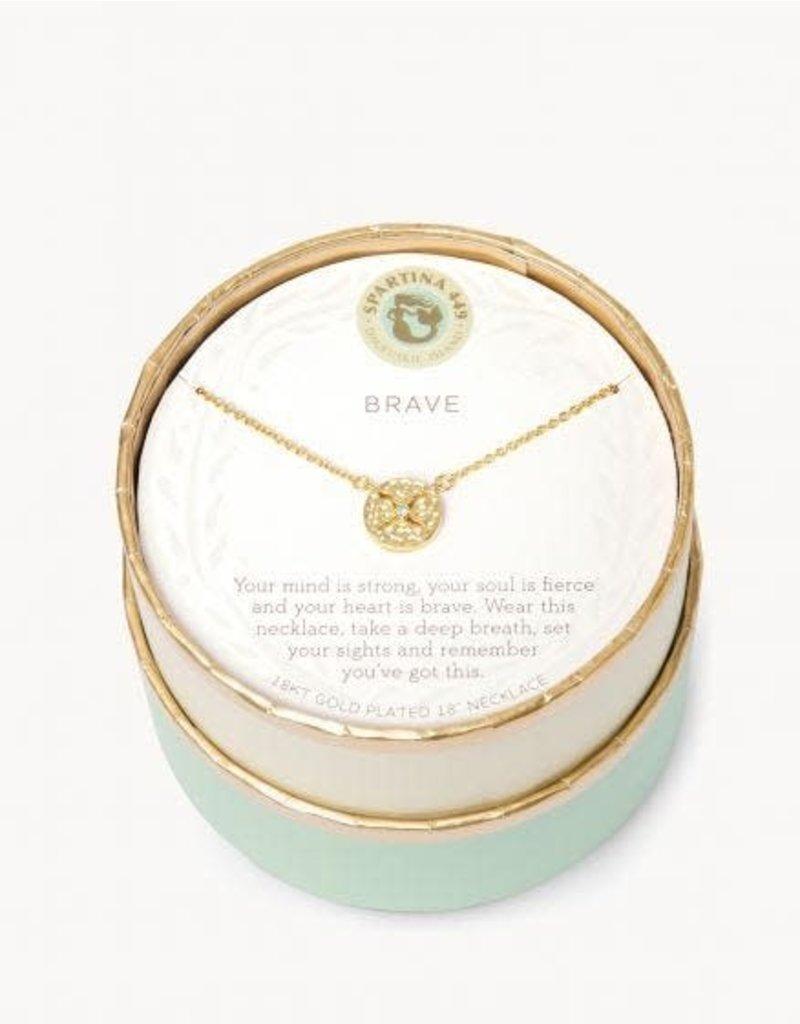 Spartina 449 Sea La Vie Brave Necklace - Gold