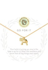 Spartina 449 Sea La Vie Go For It Necklace - Gold