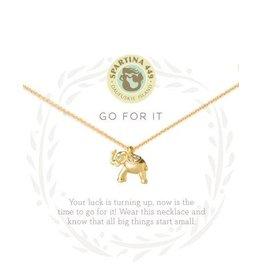 Spartina 449 Sea La Vie Go For It Necklace - Gold