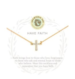 Spartina 449 Sea La Vie Have Faith Necklace - Gold