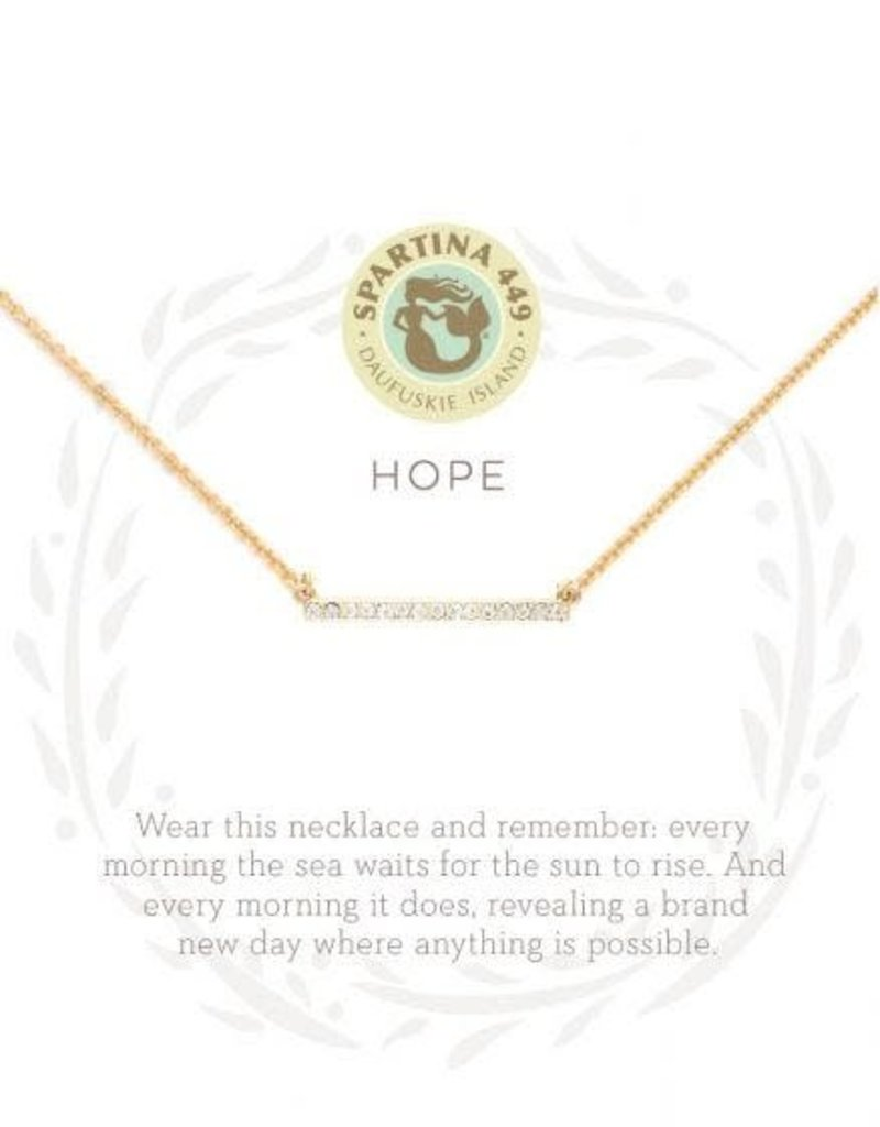 Spartina 449 Sea La Vie Hope Necklace - Gold