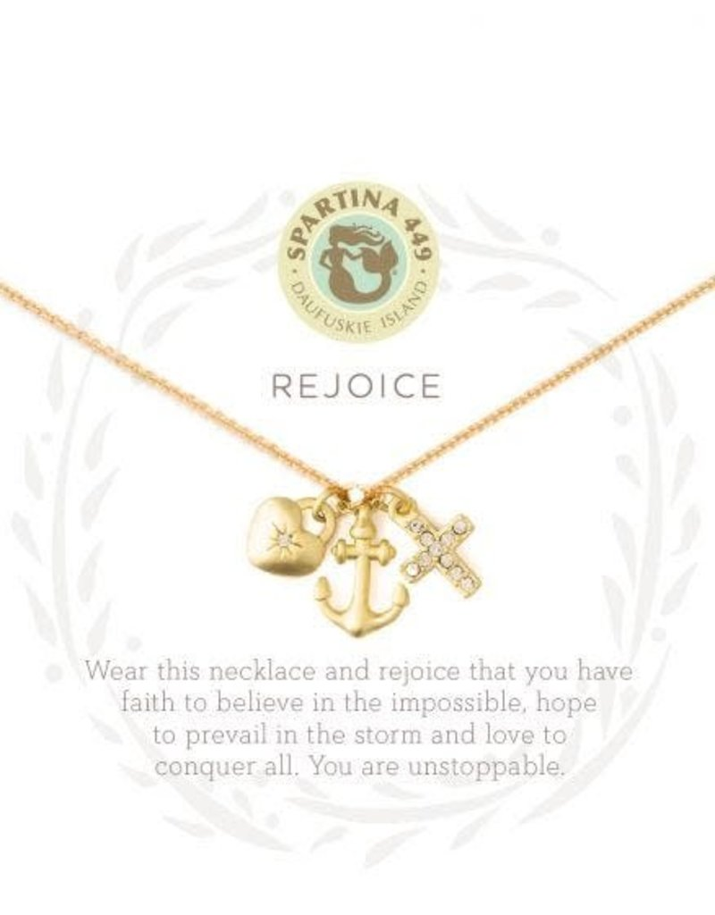 Spartina 449 Sea La Vie Rejoice Necklace - Gold