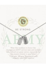 Spartina 449 Mermaids For Military Necklace - Army (Silver)