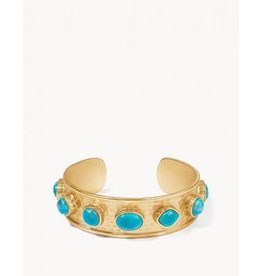 Spartina 449 Naia Statement Cuff - Gold & Turquoise