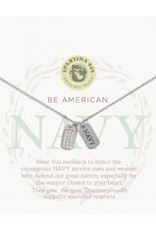 Spartina 449 Mermaids For Military Necklace - Navy (Silver)