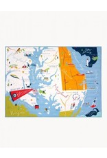 Spartina 449 Bay Dreams Quilted Throw 50Wx70L