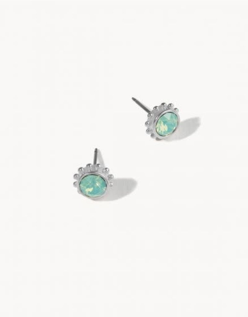 Spartina 449 Delicate Pacific Opal Adorned Stud Earrings - Silver