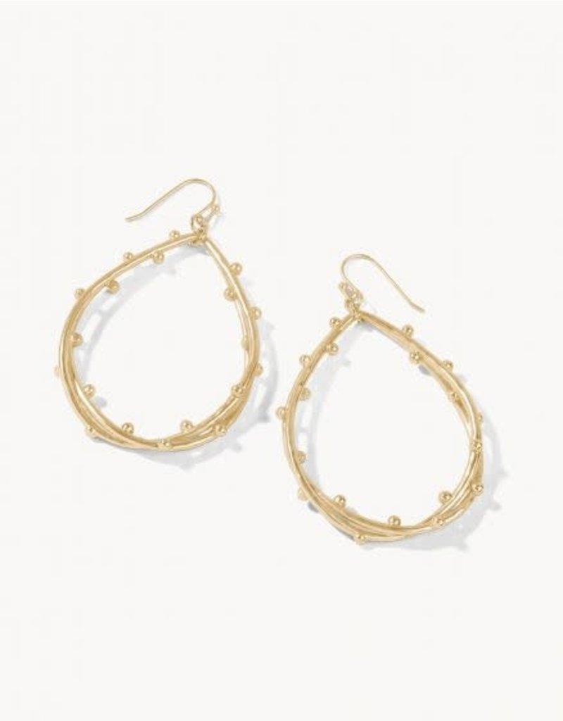 Spartina 449 Spritz Teardrop Earrings - Gold