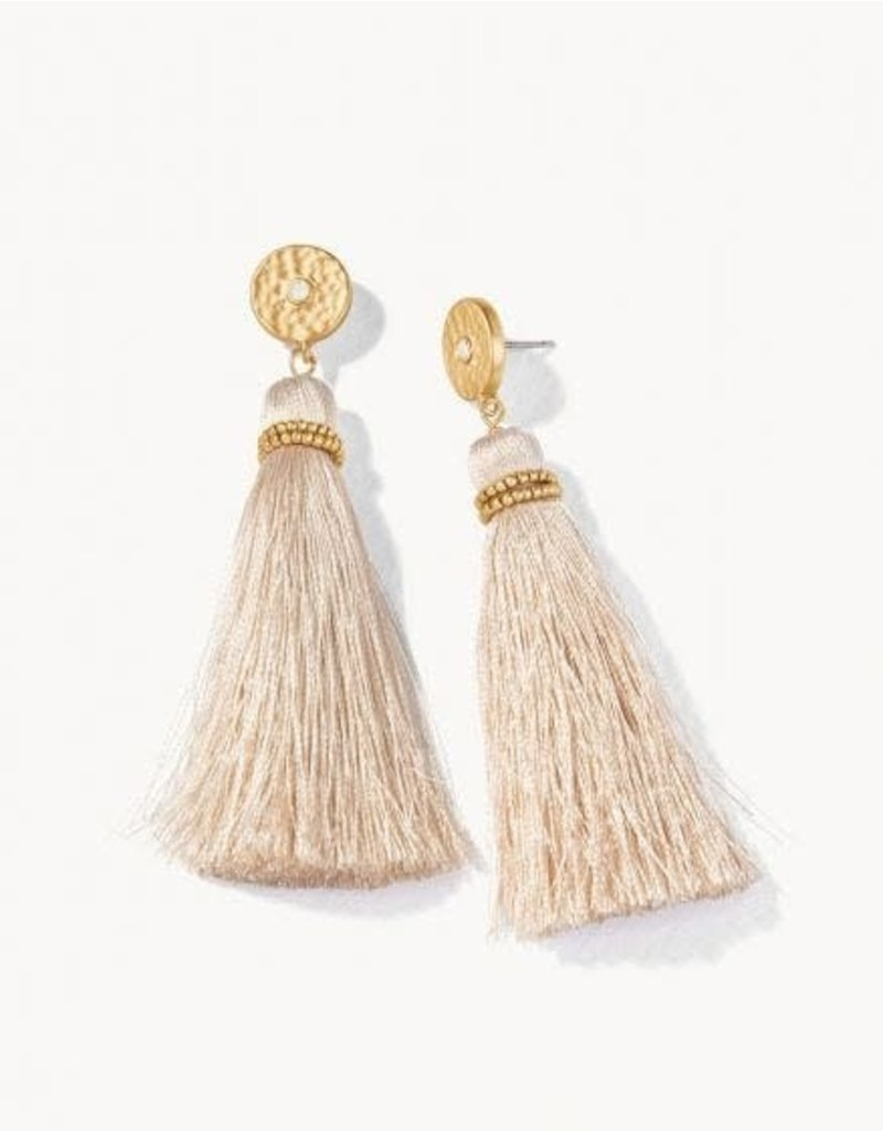 Spartina 449 Oldfield Tassel Earrings - Taupe
