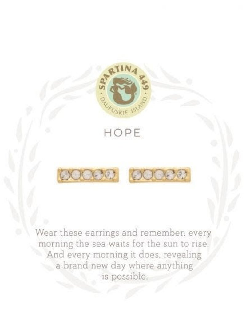 Spartina 449 Sea La Vie Hope Stud Earrings - Gold