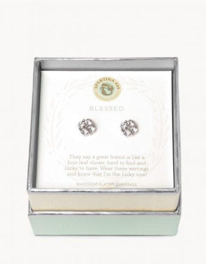 Spartina 449 Sea La Vie Blessed Stud Earrings - Silver