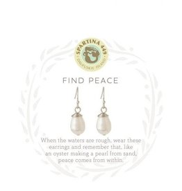 Spartina 449 Sea La Vie Find Peace Drop Earrings - Silver