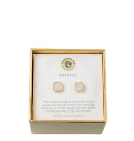Spartina 449 Sea La Vie Cream Druzy Stud Earrings - Gold