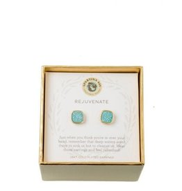 Spartina 449 Sea La Vie Sea Foam Druzy Stud Earrings - Gold