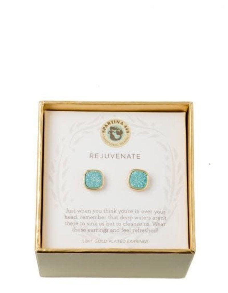 Spartina 449 Sea La Vie Sea Foam Druzy Stud Earrings - Gold