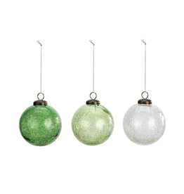 Demdaco Shades of Green Kugel Ornaments